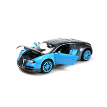 New model car collection 1:32 alloy car Bugatti Veyron die-cast metal model cars Back car children's toys with light and music(China)