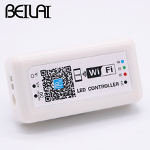 BEILAI DC 12V 24V LED WIFI RGB Controller For SMD 5050 2835 RGB LED Strip Light Application to IOS and Android Mobile(China)