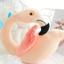 40*45cm Cute 2017 New Style pink swan neck pillow bird/duck plush toys plush cushion girl birthday gift kids doll