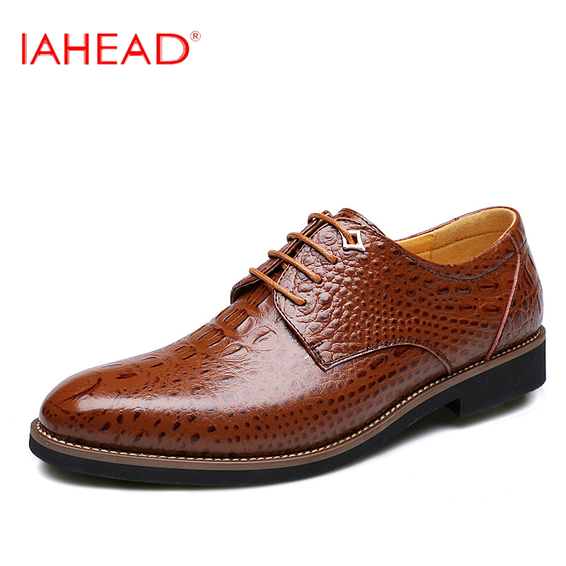 Men Genuine Leather Shoes High Quality Men Moccasins Oxfords Dress Shoes Lace-Up Office Suit  zapatos MC300<br>