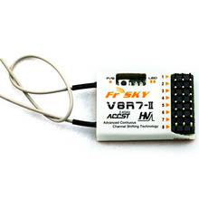 Wholesale rc helicopter parts FrSky V8R7-II 2.4G 8CH Receiver high quality(China)