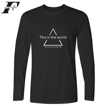 Graphical Style Long Sleeve Men Shirt Autumn Fashion Tee Shirt Men Cotton Casual Streetwear High Quality Wolf Tshirt Men Brand