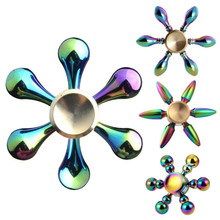 Buy Newest Rainbow Tri Fidget Spinner Finger ABS EDC Hand Spinner Kids Autism ADHD Anxiety Stress Relief Focus Handspinner Toy for $2.90 in AliExpress store