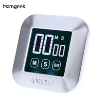 LCD Digital Touch Screen Kitchen Timer Practical Cooking Timer Countdown Count UP Alarm Clock Kitchen Gadgets Cooking Tools