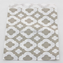 100pcs Mixed Colors Cheap Buffet Candy Treat Gray Mod Patterned Paper Party Favor Gift Bags,3 Days Delivery on Orders over $100
