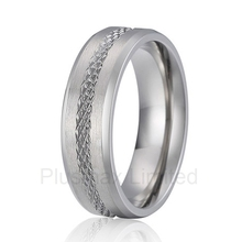 high quality perfect partner gift for men pure handmade titanium wedding band love ring(China)