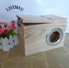Wooden Hamster House Squirrel Chalet House Base Cottages Small Animal Products Pet Supplies D405(China)