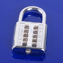 5 Digit Push-Button Combination Number Luggage Travel Code Lock Padlock Silver-Y122