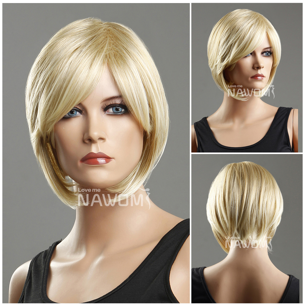 New  Free shipping women wigs short blonde straight wigs for sale,100% kanekalon Nawomi Brand ladies wig<br><br>Aliexpress