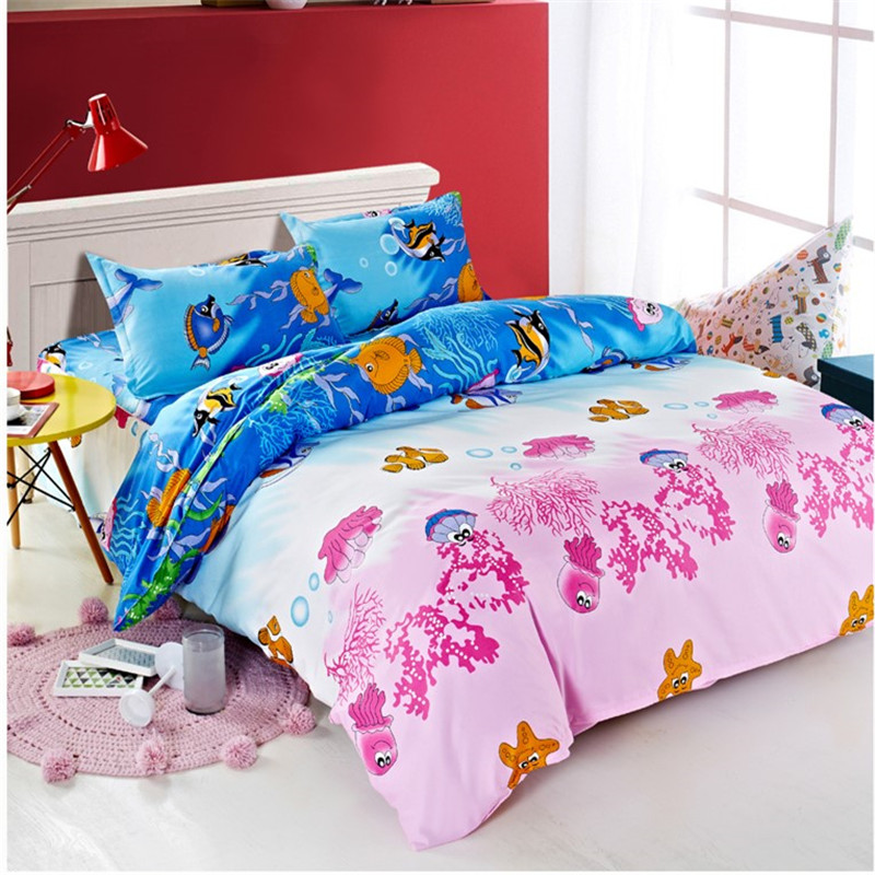 New Cotton Blend Bedding Set Duvet Cover Flat sheet Bed Sheet Pillowcase Fitted Sheet Twin Full Queen Size 7