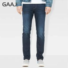 PROFESSIONAL JEANS STORE Men Jeans Original Designer Brand Clothing Fleece Lined Regular Straight Jeans For Man High Qu(China)