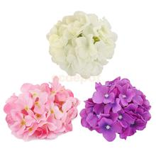 20x Artificial Hydrangea Flowers Home Wedding Silk Flower Head Decoration Pink/White/Purple