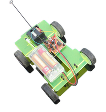 F17940 14.5*11*4.5cm Easily DIY Assembling Mini Battery Powered Car 4WD Smart Robot Car Chassis RC Toy(China)