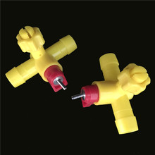 20 sets Cages with Tee Drinking Ball Tap Nipple 13.5mm Poultry Drinking Ball Valve-type Cages Drinking Fountains Equipment