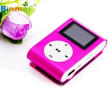 Beautiful Gift 100% Brand New 2016 LCD Screen Mini USB Clip MP3 Player Support 32GB Micro SD TF Card Wholesale price_KXL0612(China)