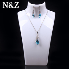 2014 New and Hot sale White color 20*13.5cm Mannequin Necklace Jewelry Pendant Display Stand Holder Show Decorate Retail()