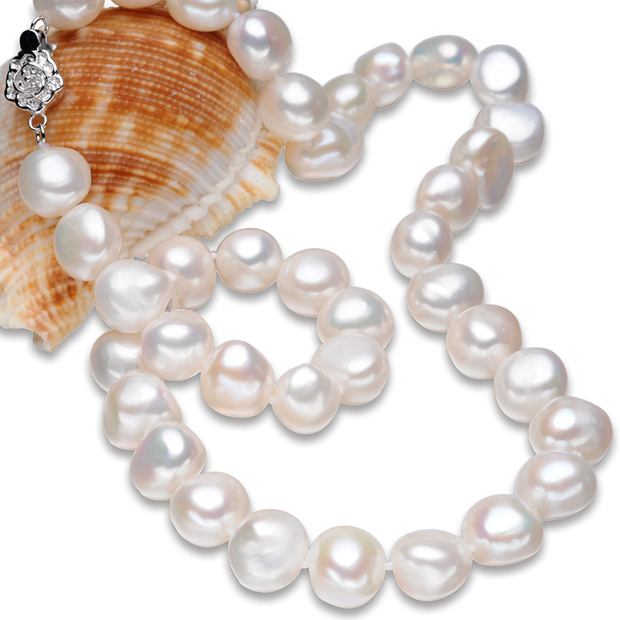 FEIGE Fine Jewelry Baroque Style 10-11mm White Nat...