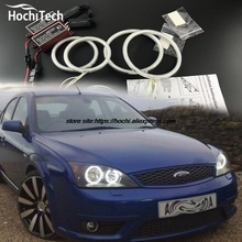 HochiTech ccfl angel eyes kit white 6000k ccfl halo rings headlight for FORD Mondeo MK3 2001 2003 2004 2005 2006 2007