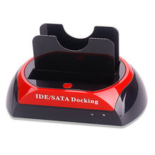 "3.5"" 2.5"" SATA IDE 2 Double Dock Hard Driver HDD Docking Station OTB USB Hub External Storage Enclosure Parts XXM"