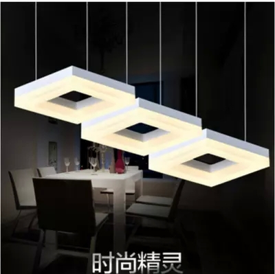 New beautiful LED droplight rectangle art lights sitting room lights acrylic contemporary and contracted absorb dome light l<br><br>Aliexpress