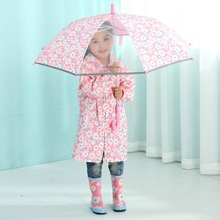 Summer explosion South Korea children automatic owl cartoon visual umbrella(China)
