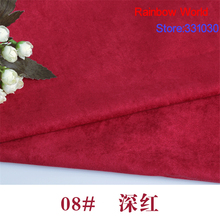08# deep red Thin Suede fabric for DIY sewing Sofa pillow bag colthes skirt coat hat shoes material(50*150cm)
