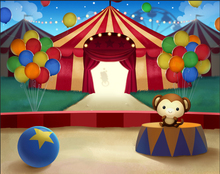 5x7FT Carnival Circus Tent Stage Entrance Balloons Custom Photo Studio Backdrop Background Vinyl 220cm x 150cm(China)