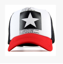 2017 summer New Five-pointed Big Star Pattern Mesh Baseball cap men hat Polo cap mainstream Gorras hip-hop hats snapback