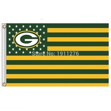 Green Bay Packers Flag USA With Stars and Stripes NFL Flag 3x5 ft custom Banner 90x150cm Sport flag(China)
