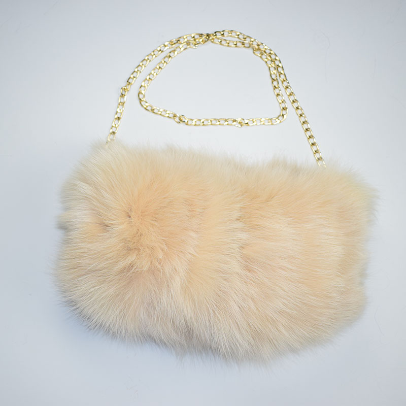 fox fur handmuff beige 1