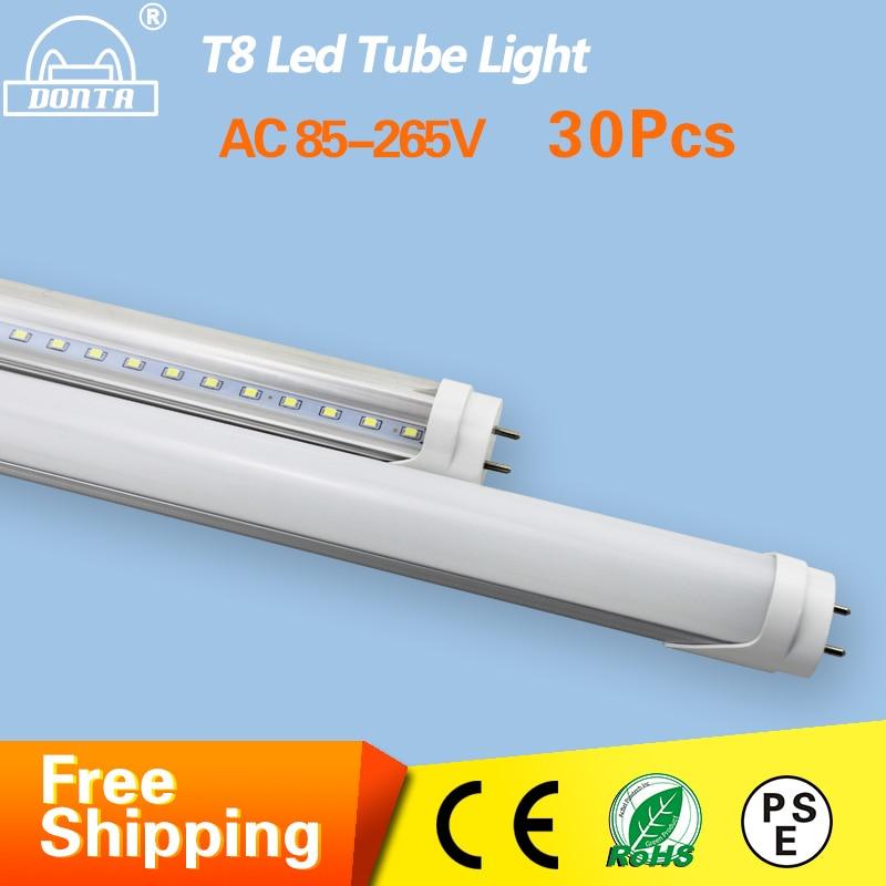 4ft 1200mm G13 T8 Led Tube Light 10W 20W 22W 25W High Luminous Flux Led Fluorescent T8 AC85-265V 30pcs Factory T8 Tube Lighting<br><br>Aliexpress