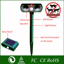 New Plastic Green Garden Cat Dog Pest Repeller 18k-23kHz Solar Power Ultra Sonic Scarer Frighten Animal Repellent Outdoor Use(China)
