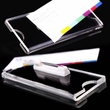 50pcs custom 75*40mm pin acrylic student worker employee ID name card holder ID card chest name badge pin brooch