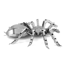 3D Animal Metal Spider Puzzle Model Jigsaw Puzzles DIY Metallic Mini Insect Toy Educational Learing Toys For Kids Children Baby