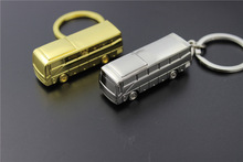 FREE SHIPPING BY DHL 200pcs/lot 2015 New Wholesale Zinc Alloy Bus Key Chain 3D Mini Bus Model Keyring Gifts