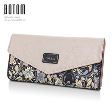 Women Coin Purses 2016 Korean Style Small Floral Design Long Wallet Female Change Purse Ladies Casual Clutch Bag Monederos Mujer(China)