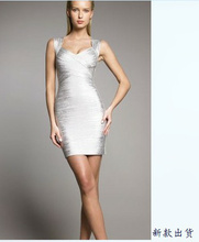 Free Shipping For Apac Region HL Bandage Dress W059 Strap Celebrities Party dress