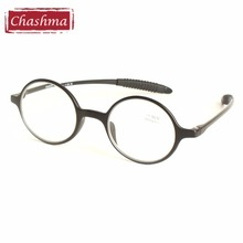 Chashma Brand Vintage Reading Glass Men's Round Eyeglass TR 90 Quality Flexible Optical Reading Glasses Female(China)