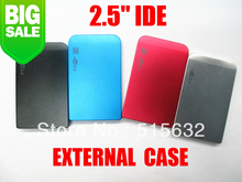"2.5"" IDE Hard Drive Disk HDD External Black Case Enclosure Box USB 2.0 Laptop PC four colour"