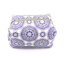 SIKOTE Cosmetic Bag Professional Toiletry Bags Travel Makeup Case Beauty Necessaries Blue white porcelain Make up Storage Box(China)