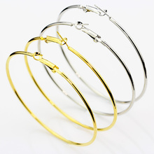 MMS Leisure Fashion Hoop Earrings Basketball Circle Jewelry Simple Stainless Steel for Womens Wholesale Factory Price 50-100MM