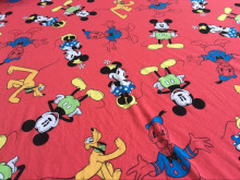 170x100cm cotton knit red Mickey fabrics prints Patchwork DIY clothes material dress Sewing Textile Tilda tecido baby clothes(China)