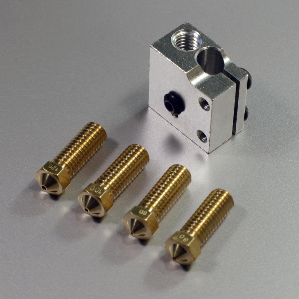 Large Size RepRap 3D Printer Volcano hotend kit High Print Speed Kit 1.75mm / 3.0mm + 4 nozzles kit<br><br>Aliexpress