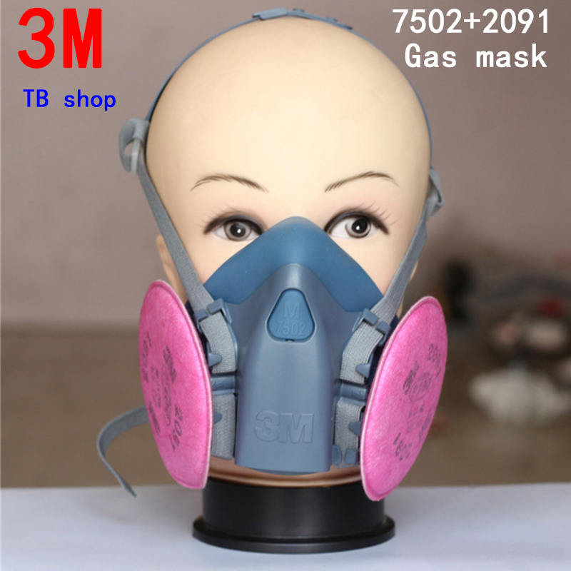3M 7502+2091 respirator gas mask high quality filter mask against Car manufacturer Spraying Painting protective mask<br>