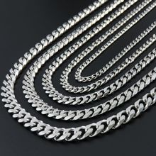 4/5/7/8/9mm 45/55/65/75/85cm Curb Cuban Chain Necklace Men's Stainless Steel Chain Necklace Fashion Gift Jewelry Personalize