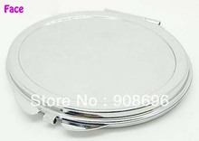 100 Pcs Blank Oval Compact Mirror DIY  Logo Print Makeup  Mirror -- DHL & Fedex Free Shipping