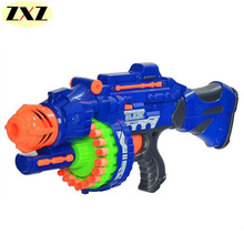 HOT!!!!!2017 Free Delivery New Electric Bursts Toy Gun  20 pcs Soft Bullet Big Gun Launchers CS Outdoor Toys Kids