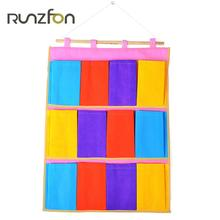 Foldable 12 Grids Nonwovens Wardrobe Hanging Bags Socks Briefs Organizer Clothing Hanger Closet Shoes Underpants Storage Bag