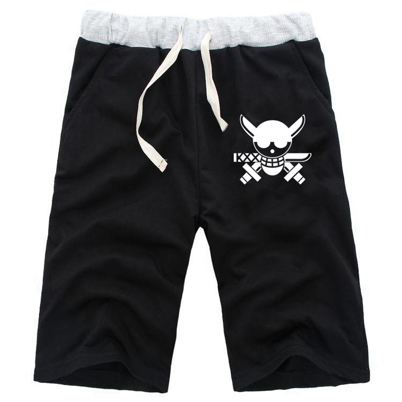 Men's Clothing Fashion Shorts Men For Anime One Piece Monkey D Luffy Printed Drawstring Shorts Unisex Casual Loose Size Costume Various Styles