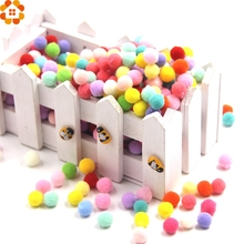 100PCS Approx 15-18MM Multi Color Pompoms Soft Pom Poms Balls DIY Craft Home Garden&Wedding Decoration&Sewing Accessories Tools(China)